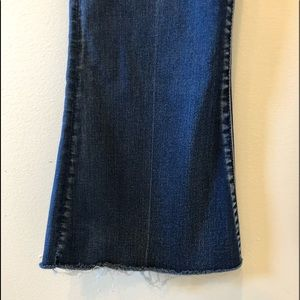 Boot Cut Fringed Bottom Jeans